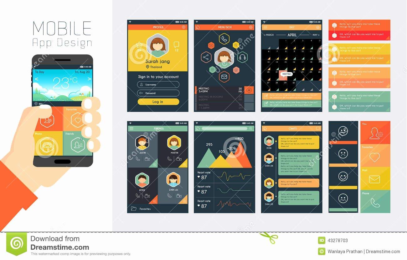 Mobile Apps Website Template Inspirational Mobile App Layout Design tool Mobile Application Design