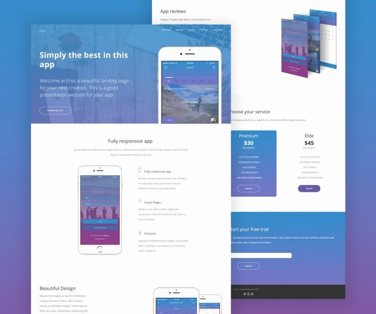 Mobile Apps Website Template Inspirational Mobile App Website Template Psd Download Psd