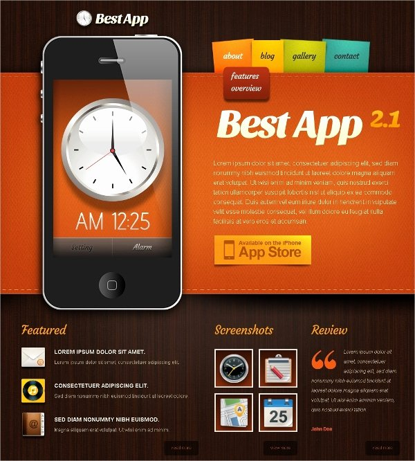 Mobile Apps Website Template Lovely 18 Mobile Website themes & Templates