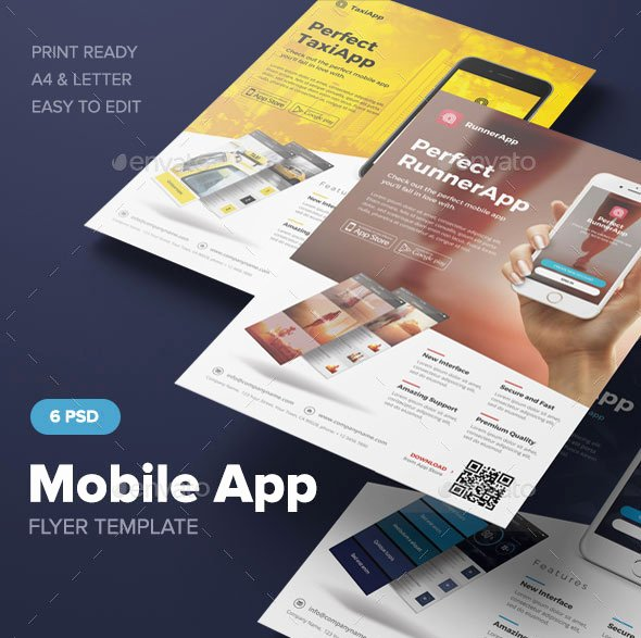 Mobile Apps Website Template Luxury 30 Effective Web & Mobile Apps Flyer Psd Templates