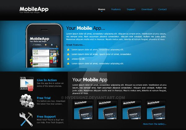 Mobile Apps Website Template Luxury Mobile App Templates