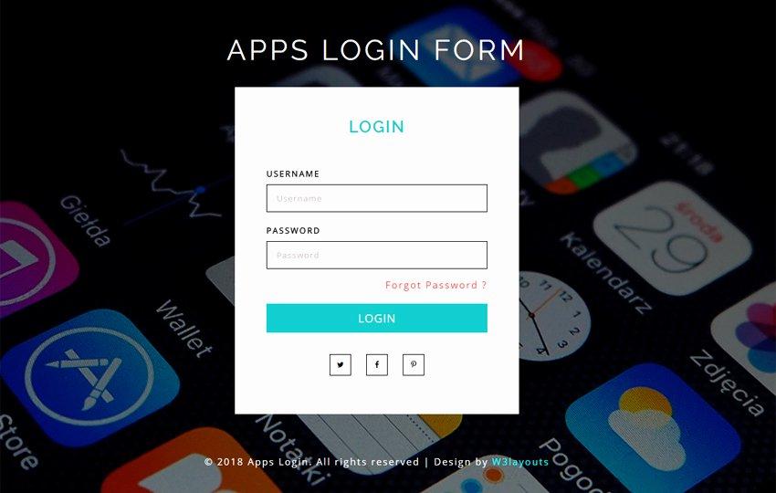 Mobile Apps Website Template Unique Mobile App Website Templates Designs Free