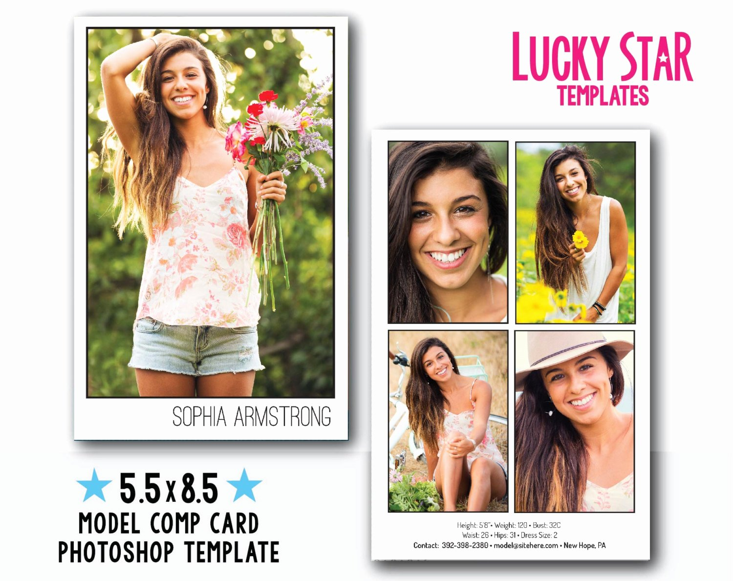 Model Comp Card Template Awesome Customizable Digital Model P Card Power Portraits