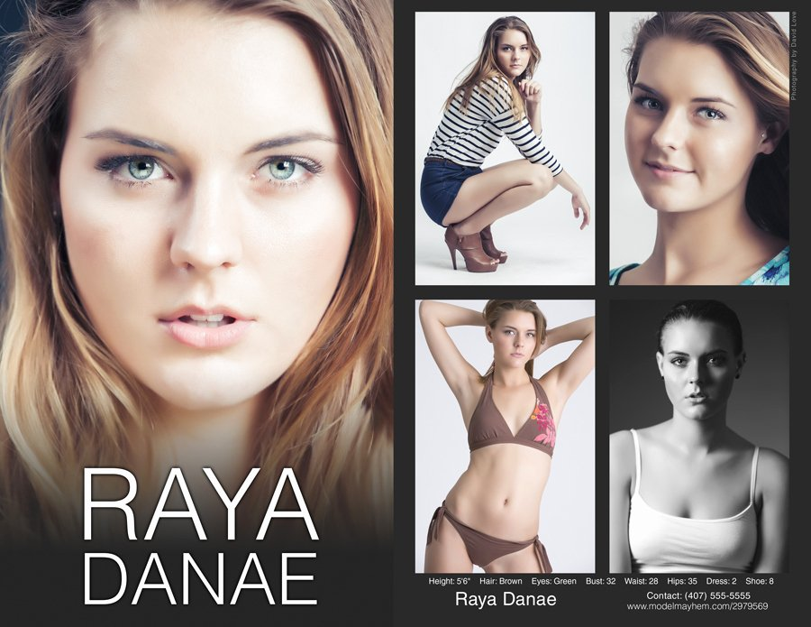 Model Comp Card Template Awesome P Card Template