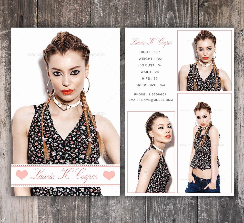 Model Comp Card Template Beautiful Modeling P Card Template Fashion Model P Card