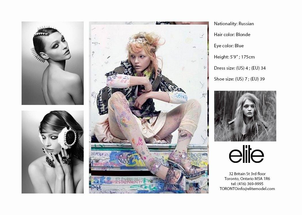 Model Comp Card Template Beautiful Second Semester Fashion Arts Creative Suite Applications