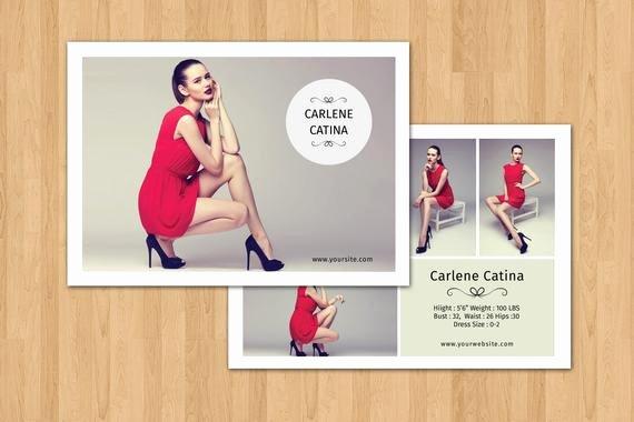 Model Comp Card Template Elegant Fashion Model P Card Template Modeling P Card