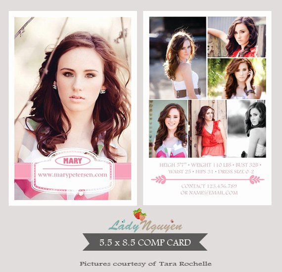 Model Comp Card Template Fresh Instant Download Modeling P Card Shop Templates
