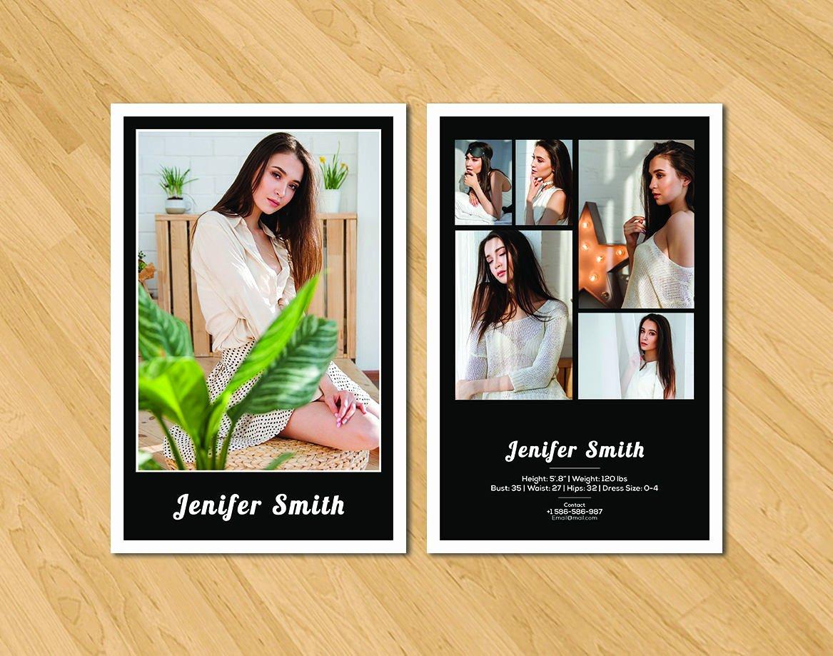 Model Comp Card Template Inspirational Modeling P Card Template Model P Card Shop