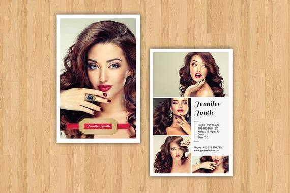 Model Comp Card Template Lovely Modeling P Card Template Fashion Model P Card
