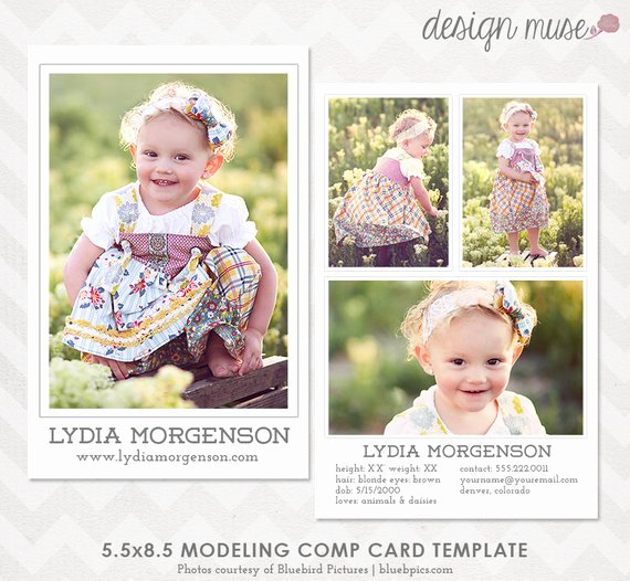 Model Comp Card Template Luxury Model P Card Template for Professional Graphers