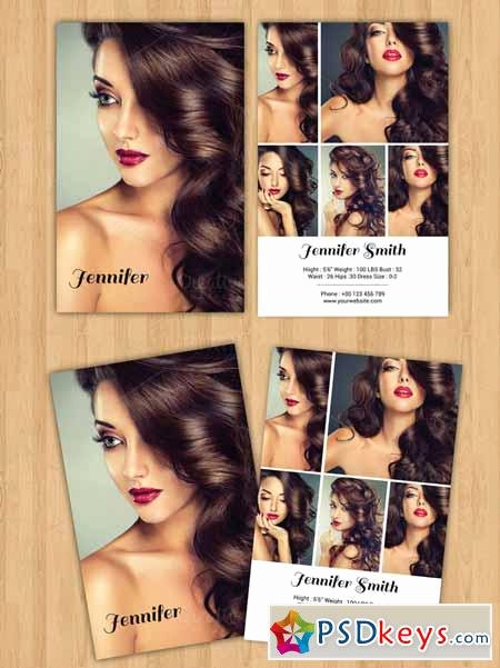 Model Comp Card Template Luxury Modeling P Card Template V232 Free Download