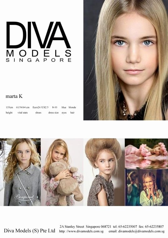 Model Comp Card Template Luxury Modelscouts Model Marta K P Card Diva Models