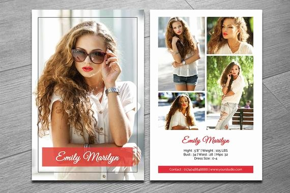 Model Comp Card Template Unique Modeling P Card Template Fashion Model P Card Ms