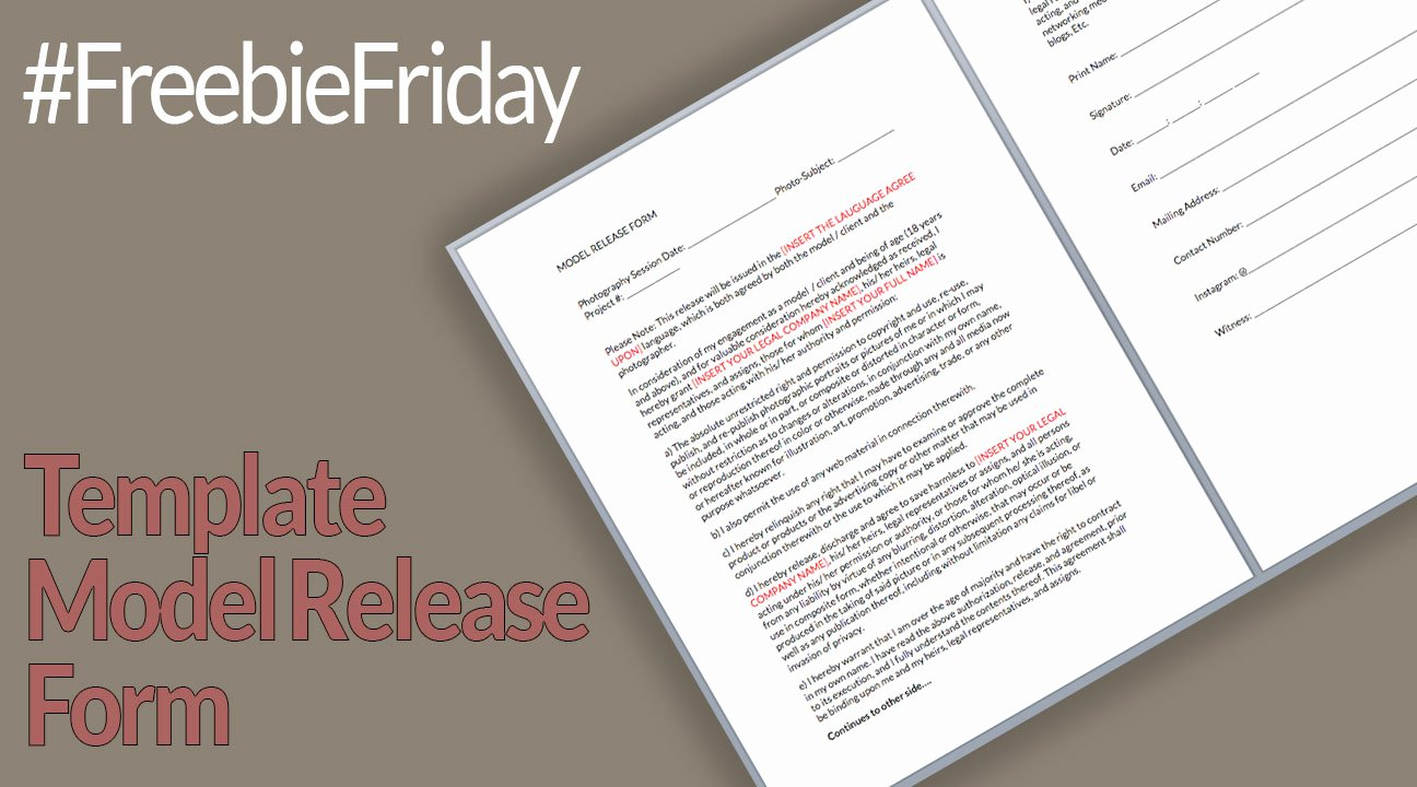 Model Release form Template Awesome Freebie Friday Template Model Release form