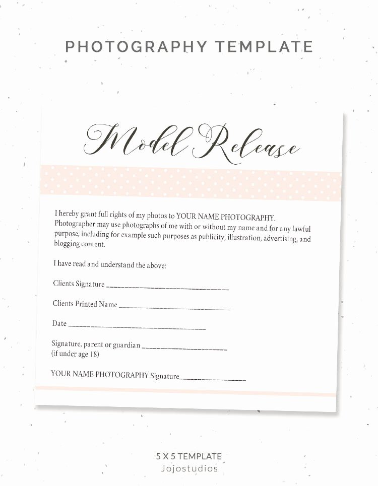 Model Release form Template Lovely Graphy Model Release form Template Graphy Template