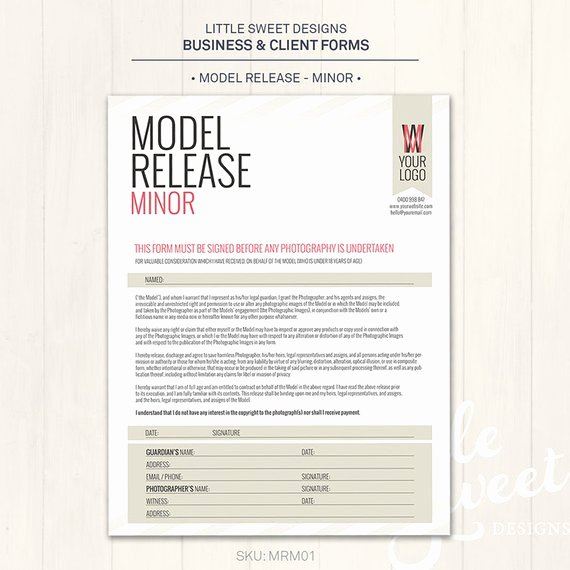 Model Release form Template Unique Graphy Model Release form Minor Shop Template