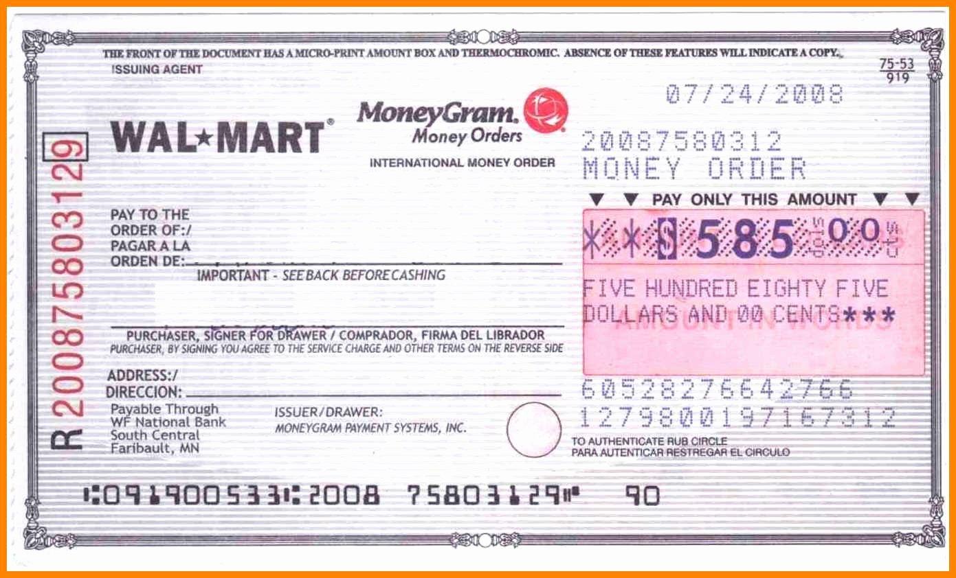 Money order Receipt Template Luxury 18 Fake Money order Template
