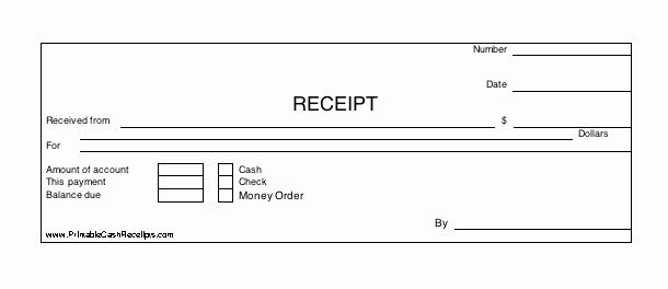 Money order Receipt Template New Three Identical Horizontal Cash Receipts Print Out Per