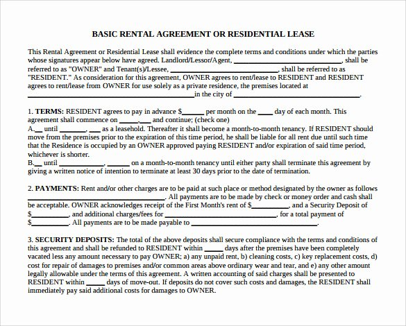 Month Rental Agreement Template Awesome 12 Month to Month Rental Agreement form Templates to