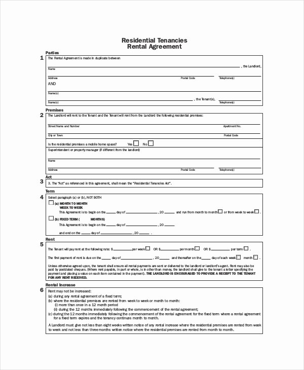 Month Rental Agreement Template Beautiful Rental Agreement Template 11 Free Word Pdf Documents