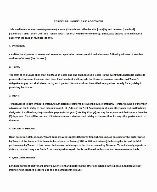 Month Rental Agreement Template Luxury Month to Month Rental Agreement Template – 12 Free Word