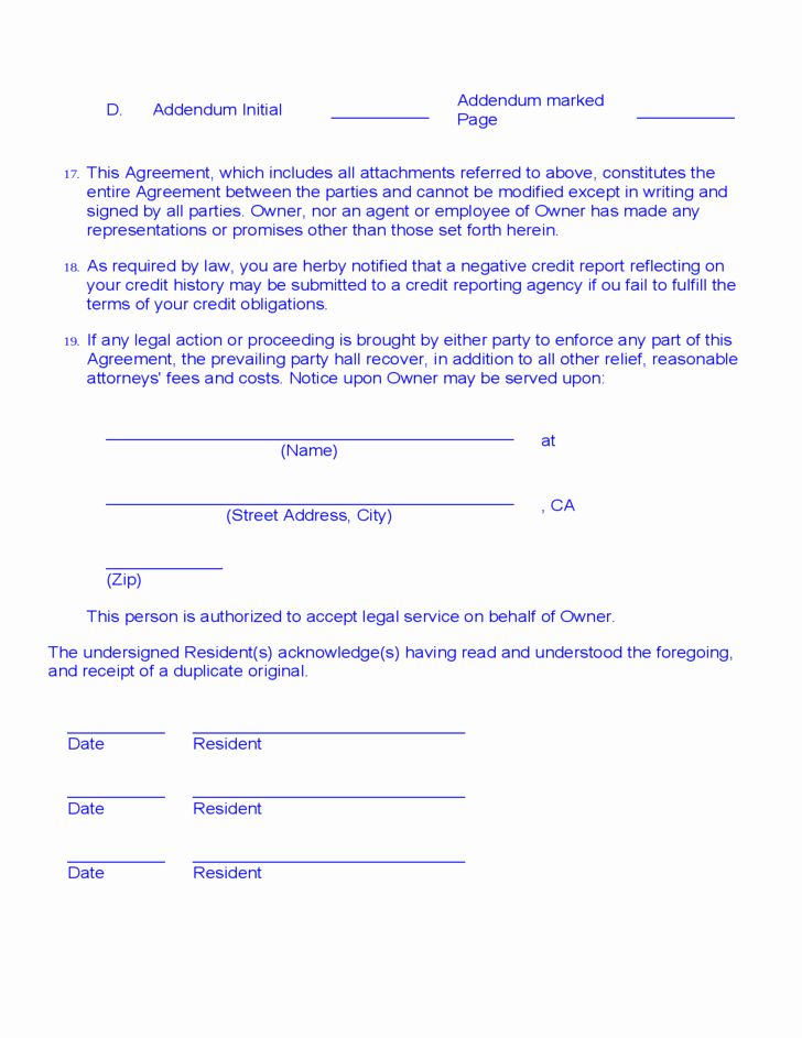 Month Rental Agreement Template Luxury Month to Month Room Rental Agreement Template