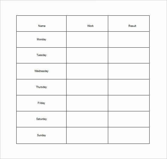 Monthly Chore Chart Template New 30 Weekly Chore Chart Templates Doc Excel