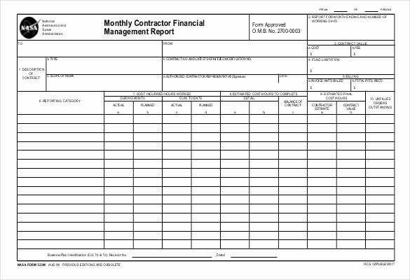 Monthly Financial Report Template Beautiful 48 Monthly Management Report Templates Pdf Doc Excel