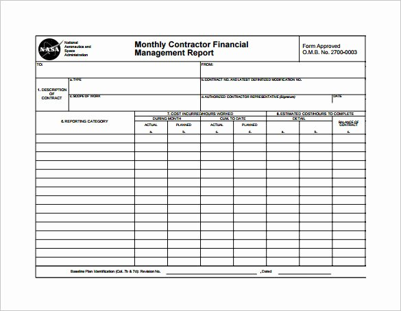 Monthly Financial Report Template Inspirational 20 Sample Monthly Management Report Templates Word