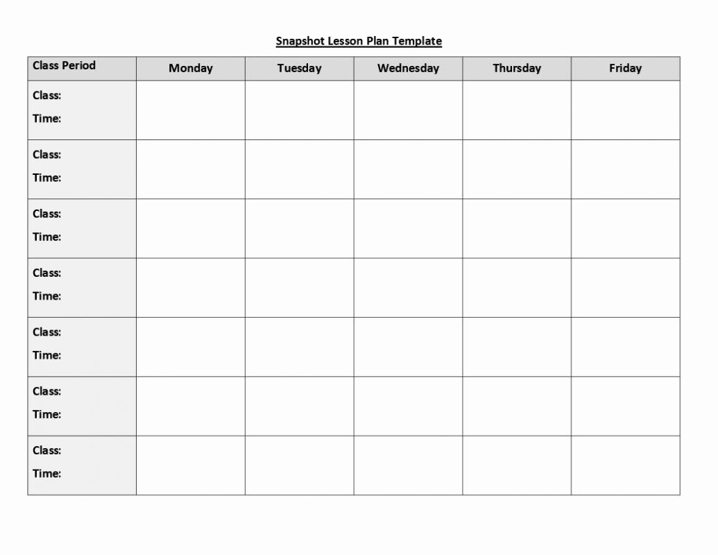 Monthly Lesson Plan Template Fresh Weekly Lesson Plan Template Doc