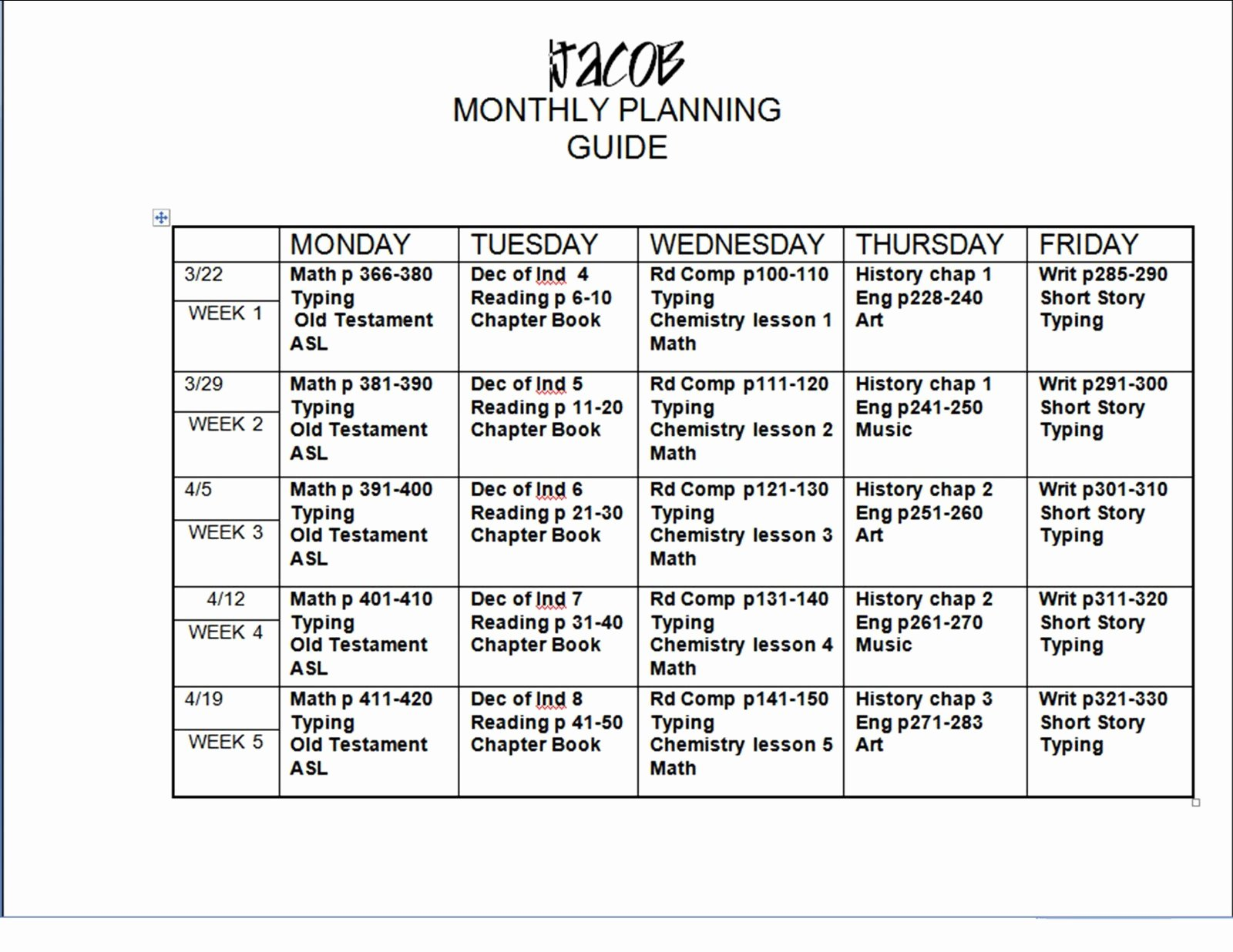 Monthly Lesson Plan Template Inspirational 6 Lesson Plan Templates Excel Pdf formats