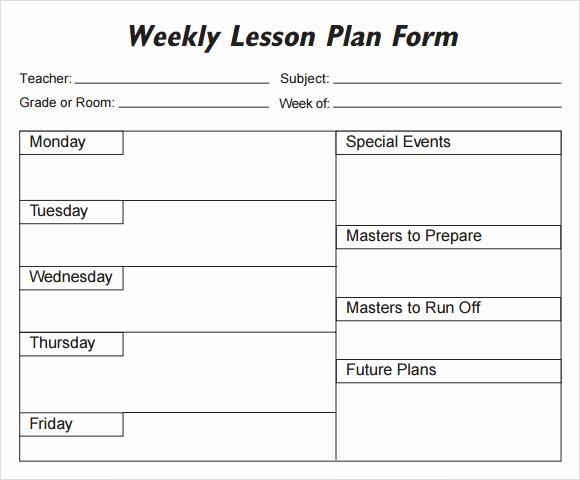 Monthly Lesson Plan Template Lovely Weekly Lesson Plan 8 Free Download for Word Excel Pdf