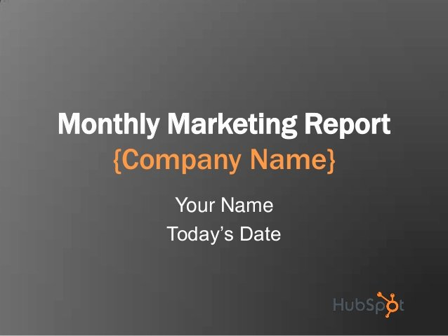 Monthly Marketing Report Template Fresh Monthly Marketing Reporting Template