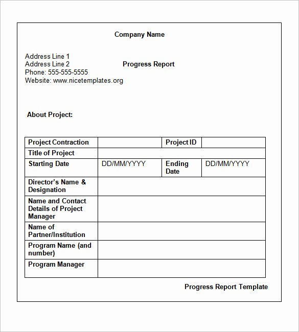 Monthly Progress Report Template Awesome Weekly Status Report Templates 27 Free Word Documents