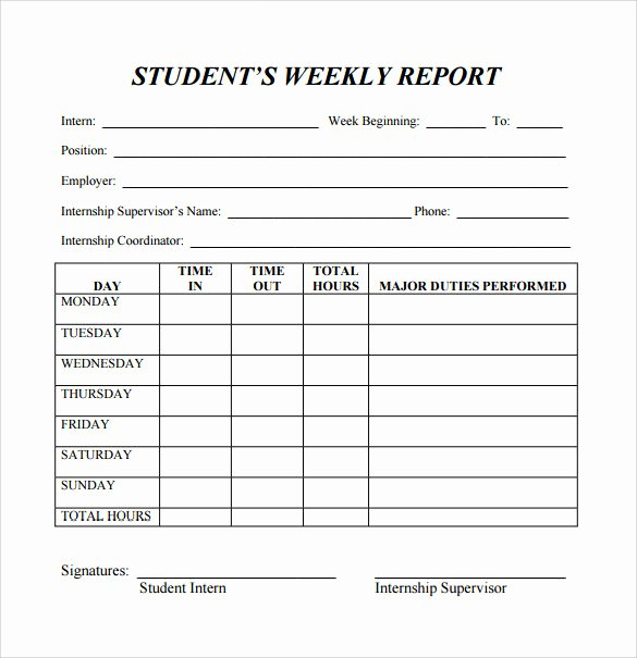 Monthly Progress Report Template New 22 Sample Weekly Report Templates Docs Pdf Word Pages