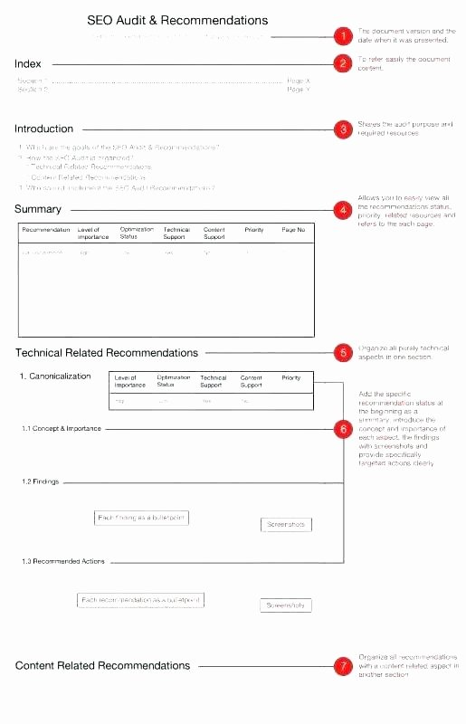 Monthly Seo Report Template Inspirational Audit Report Template Sample Audit Report format Audit