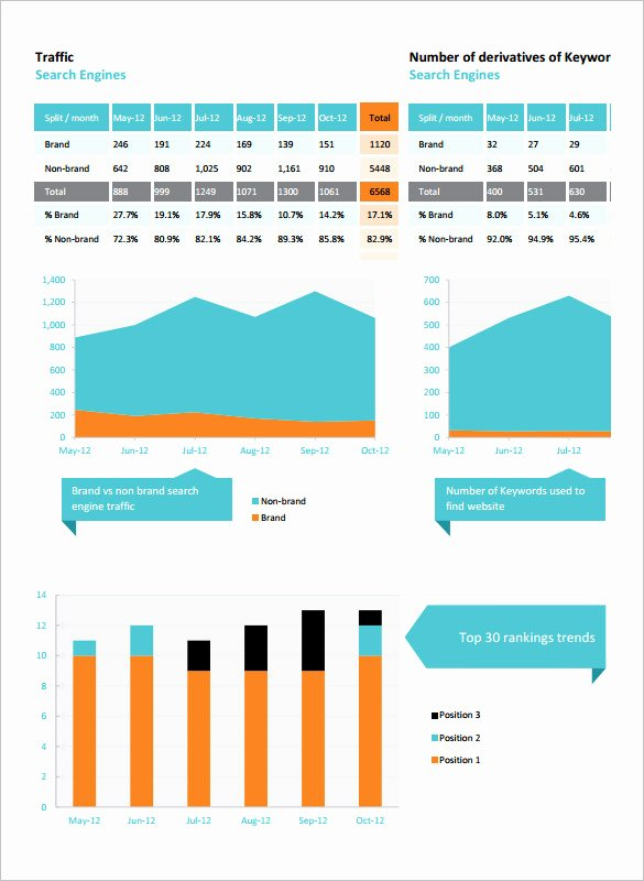 Monthly Seo Report Template New 5 Seo Report Templates Pdf Doc