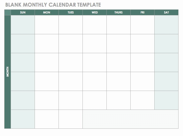 Monthly Workout Schedule Template Luxury Free Blank Calendar Templates Smartsheet