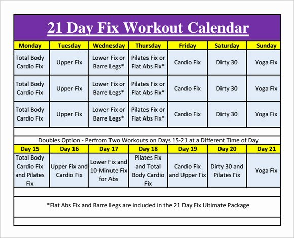 Monthly Workout Schedule Template Unique 10 Sample Workout Calendar Templates to Download