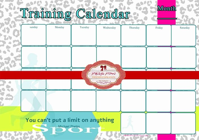 Monthly Workout Schedule Template Unique Training Calendar Template – 25 Free Word Pdf Psd