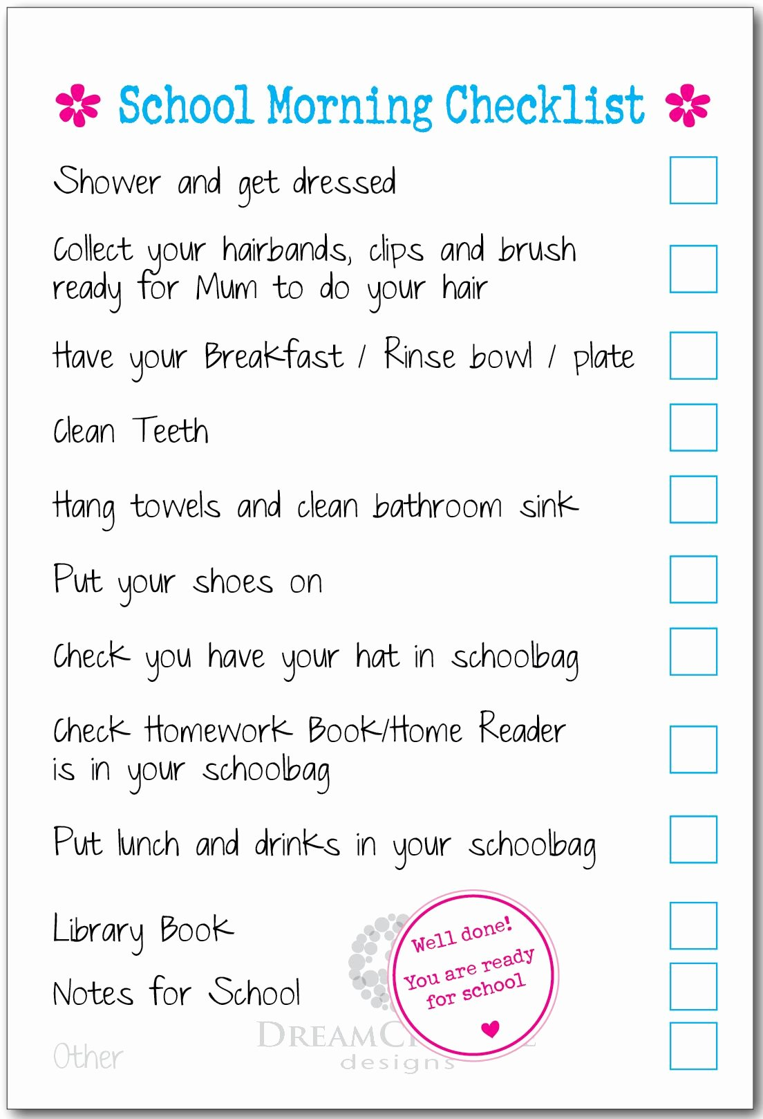 Morning Routine Checklist Template Awesome Morning Checklist Template Samples Our Three Peas for Kids
