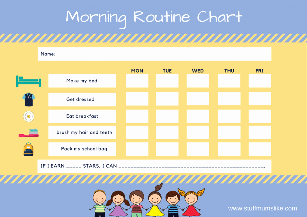 Morning Routine Checklist Template Best Of Morning Checklist Template Samples Our Three Peas for Kids