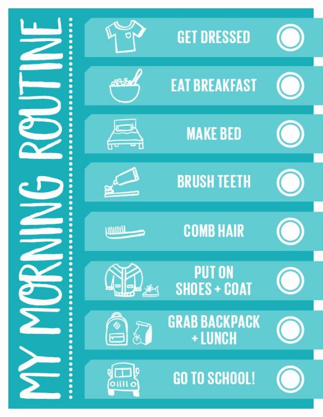 Morning Routine Checklist Template Elegant Handy Printable Morning Routine Checklist