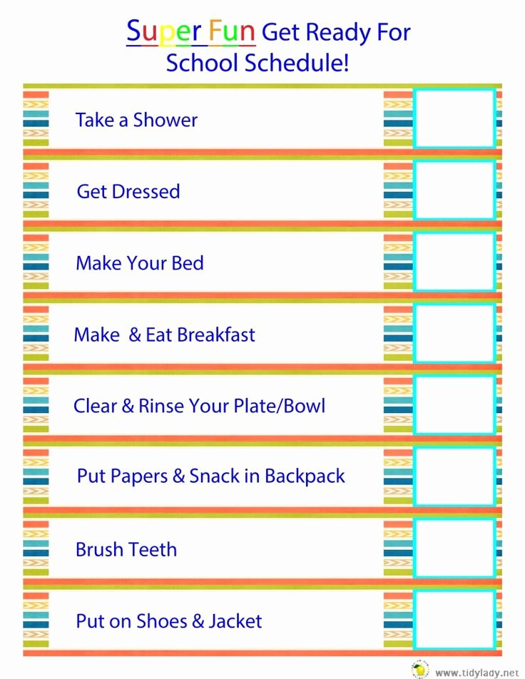 Morning Routine Checklist Template Fresh 26 Best Images About Free Printables On Pinterest