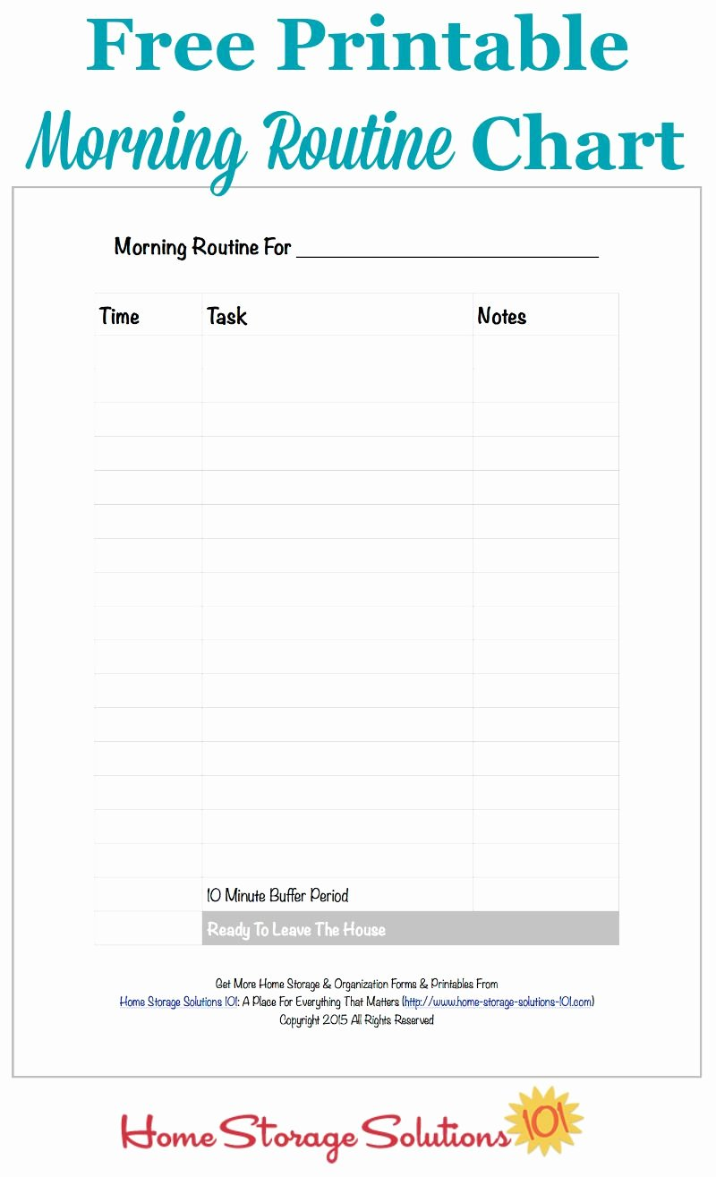 Morning Routine Checklist Template Inspirational Free Printable Morning Routine Chart Plus How to Use It