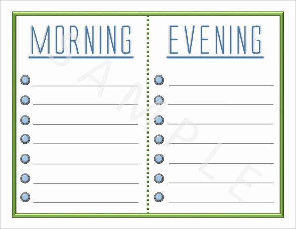 Morning Routine Checklist Template Lovely Blank Checklist Template 36 Free Psd Vector Eps Ai
