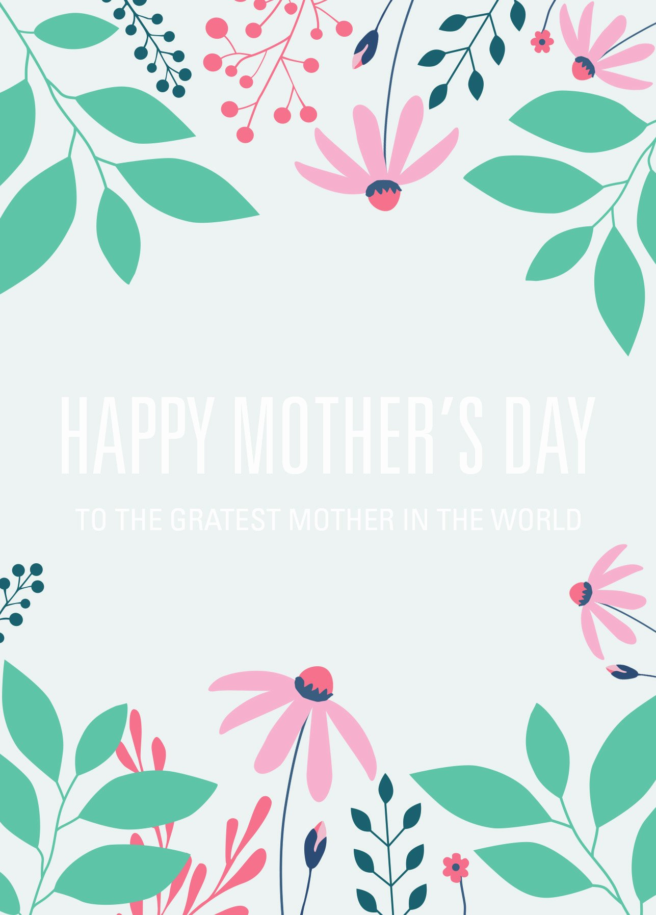 Mothers Day Cards Template Awesome Free Printable Card Template for Mother's Day