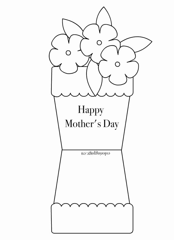 Mothers Day Cards Template Beautiful Free Printable Coloring Pages for Any Occasion