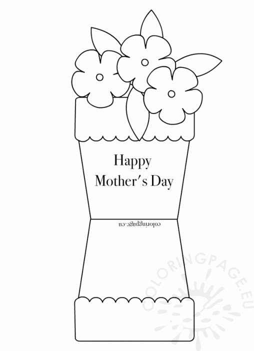 Mothers Day Cards Template Best Of Mother S Day Coloring Page